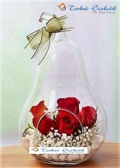 Armut Cam İçerisinde Güller